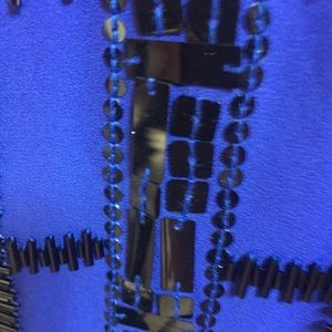 Cache Tops - Blue beaded Cache top Medium